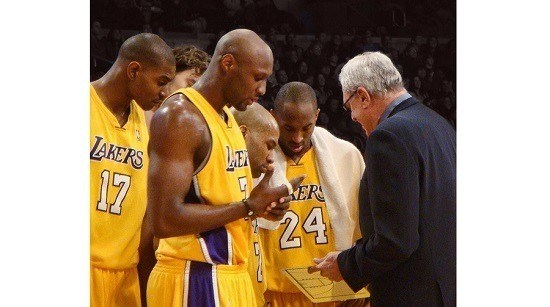 Phil Jackson coaching LA Lakers