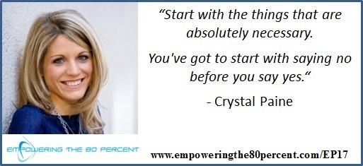 EP17 Crystal Paine Quote - Say Goodbye to Survival Mode