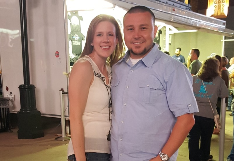 My wife, Ashley, and I at the Garth Brooks concert in Dallas, TX, 2015