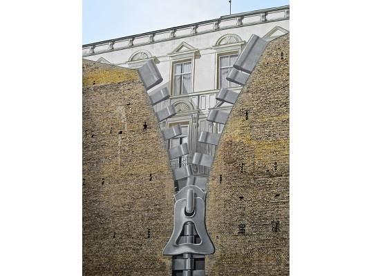 A Matter of Perspective - Zipper on Wall