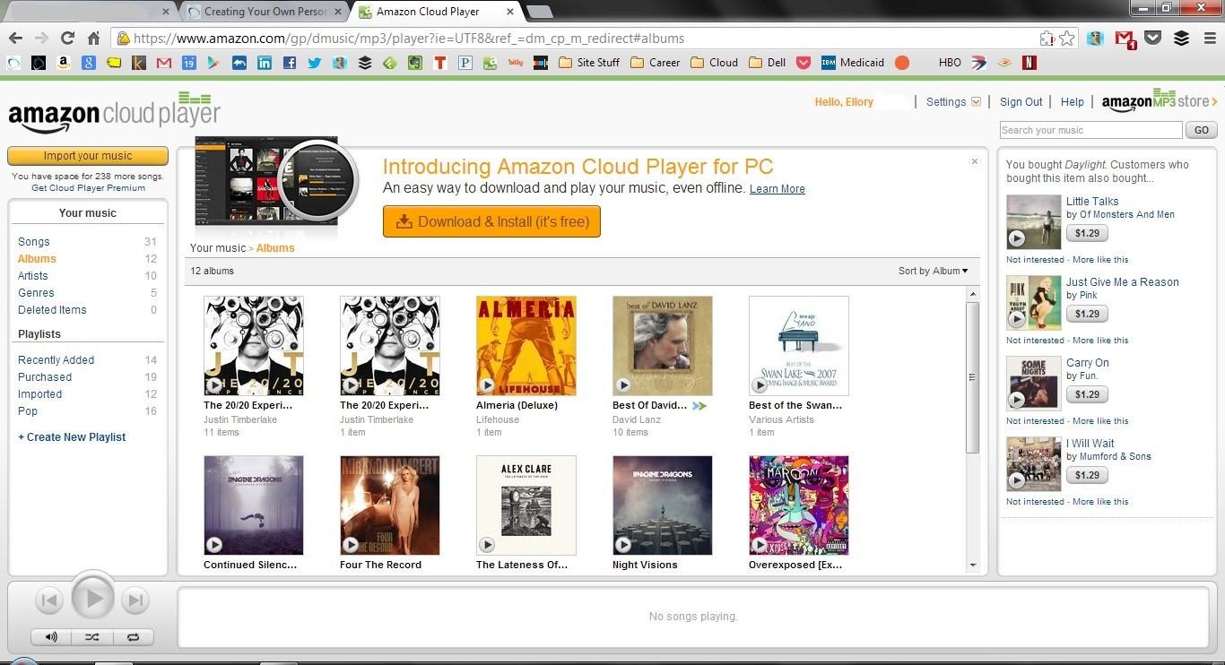 Personal Cloud Amazon Cloud Player