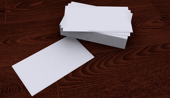 Blank Business Cards Cropped Wide
