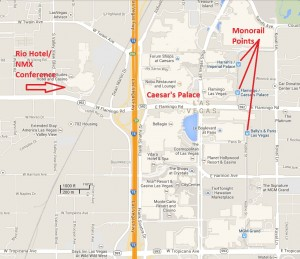 Las Vegas New Media Expo map