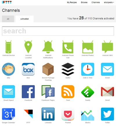 IFTTT channels I use