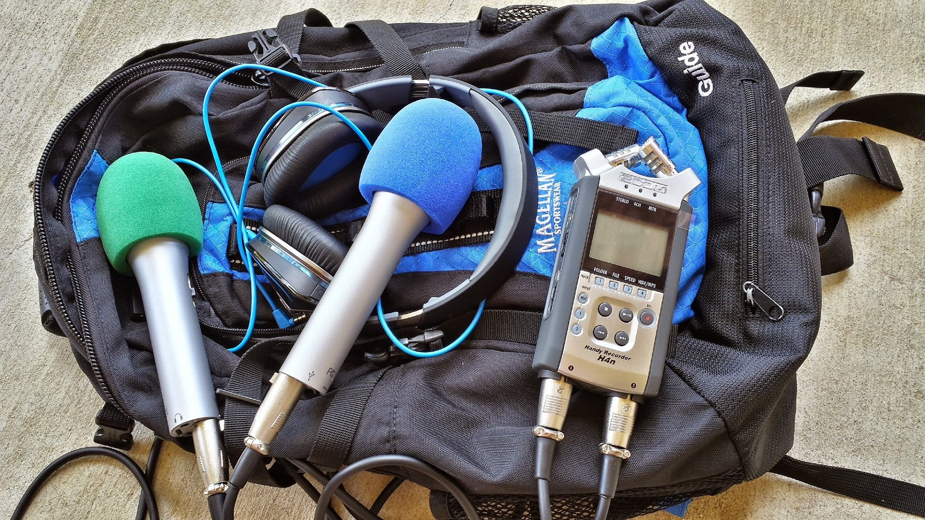 essentials for Mobile audio recording and podcast studio