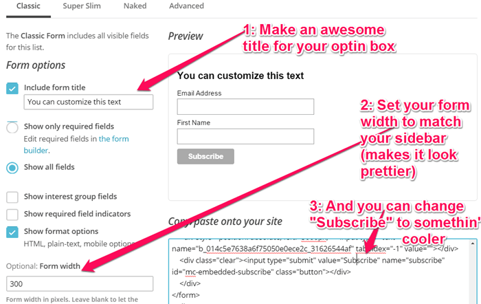 How to Embed MailChimp HTML code part 2