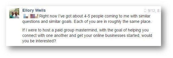 Mastermind Invite Facebook