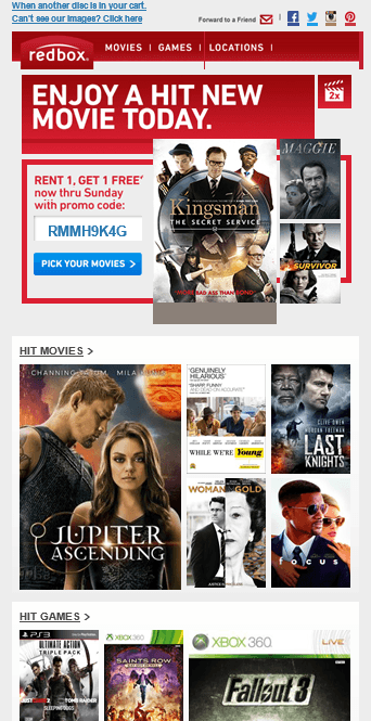 Redbox Email