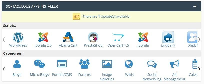 dwizzywid media cpanel softaculous apps installer