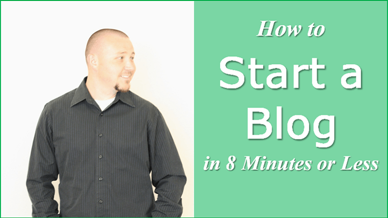 how to start a blog in 8 minutes or less