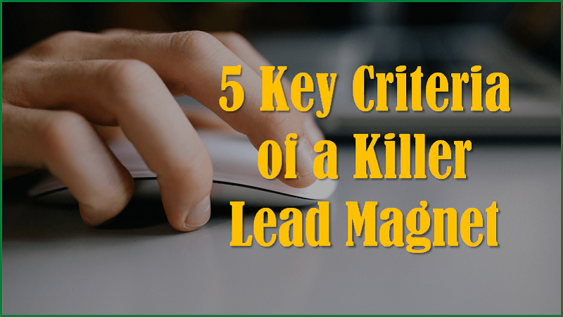 Key Criteria for Killer Lead Magnet
