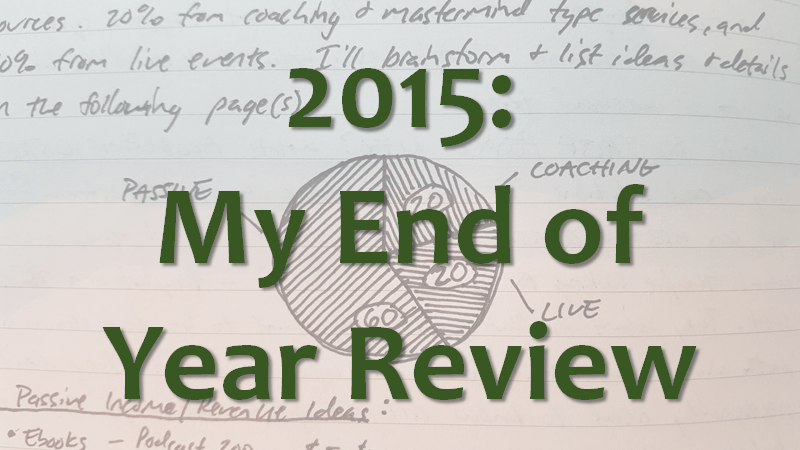 2015 end of year review