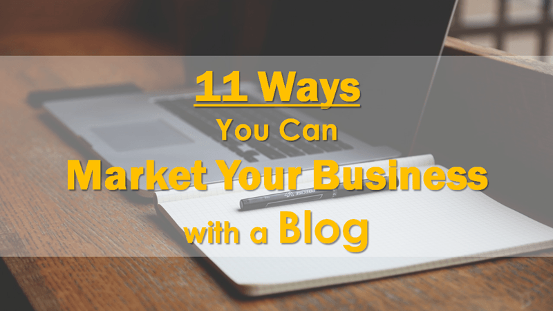 Market Your Business with a Blog