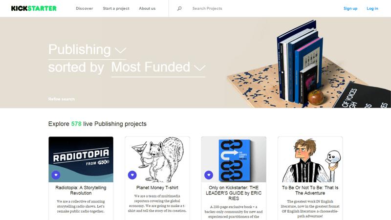 Crowdfunding book kickstarter