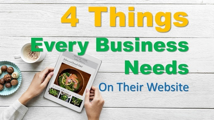 4 things every business needs website
