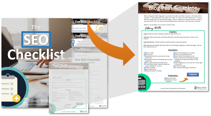 download seo checklist and blog post template
