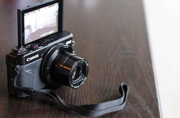canon g7x mark ii with strap vlogging camera
