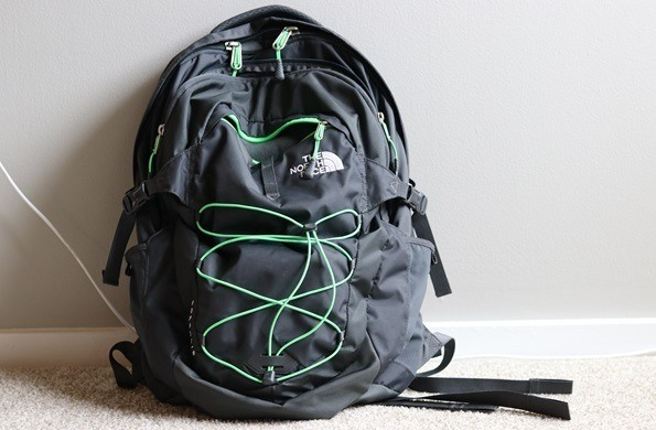 north face borealis backpack green