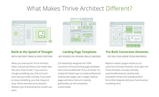 thrive architect what make different