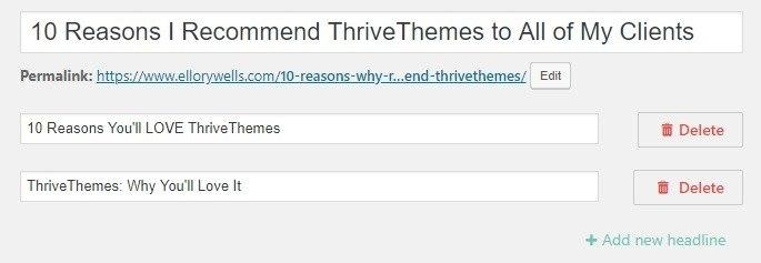 thrive headline optimizer screenshot